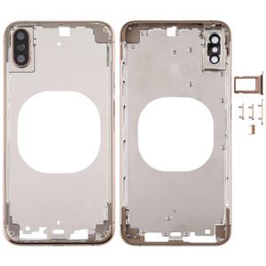 Cache arrière transparent avec objectif de caméra, plateau de carte SIM et touches latérales pour iPhone XS (or) SH288J1659-20