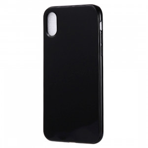 Etui TPU Candy Color pour iPhone XR (Noir) SH615B677-20