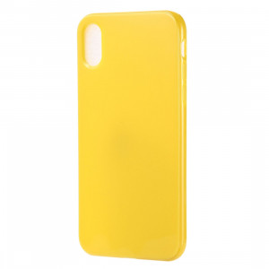 Etui TPU Candy Color pour iPhone XR (Jaune) SH615Y116-20