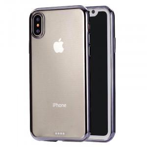 Housse de protection arrière en TPU ultra-mince pour la galvanoplastie pour iPhone XR (noir) SH432B1086-20