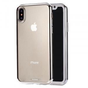 Coque arrière ultra-mince de protection souple TPU pour iPhone XR (argent) SH432S375-20
