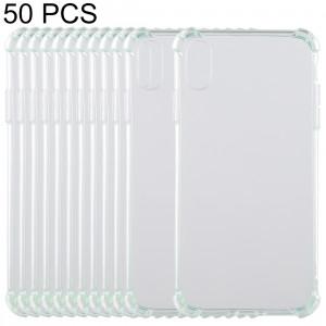 50 PCS Coque en TPU transparente anti-chute de 0,75 mm pour iPhone XR 6,1 pouces (vert) SH41GF1133-20