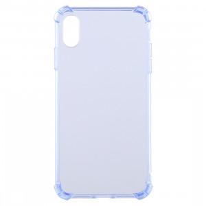 Coque en TPU transparente anti-chute de 0,75 mm pour iPhone XR 6,1 pouces (bleu) SH941L619-20