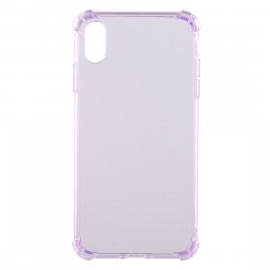 Coque en TPU transparente anti-goutte de 0,75 mm pour iPhone XR 6,1 pouces (violet) SH941P1004-20