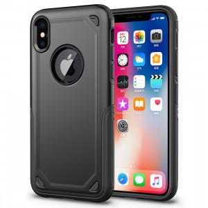 Étui de protection antichoc résistant à l'armure pour iPhone XR (noir) SH869B1121-20