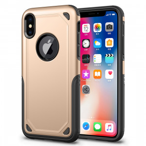 Étui de protection antichoc résistant à l'armure pour iPhone XR (or) SH869J57-20