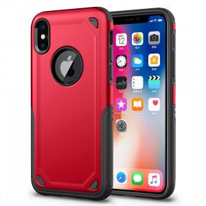 Étui de protection antichoc résistant à l'armure pour iPhone XR (rouge) SH869R1300-20