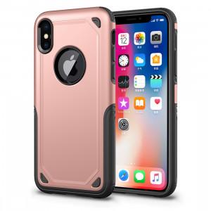 Étui de protection antichoc résistant aux armures pour iPhone XR (Rose Gold) SH69RG1527-20