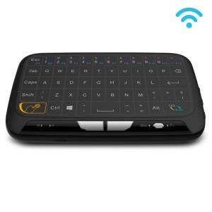 Clavier QWERTY H18 2.4GHz sans fil Mini Air avec Touchpad / Vibration pour PC, TV (Noir) SH081B1387-20
