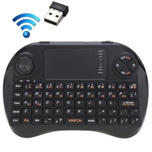 VIBOTON X3 83 touches QWERTY 2,4 GHz Mini clavier sans fil avec Touchpad et 3 LED indicateur pour PC / Pad / Android / Google TV Box / XBOX360 / PS3 / HTPC / IPTV (Noir) SV20891857-20