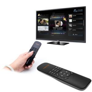VIBOTON UKB-521 2.4 GHz Sans Fil Multimédia Contrôle Air Mouse Clavier À Distance pour PC, Tablette, TV Box (Noir) SV204B380-20