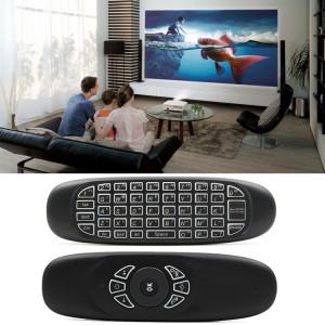 C120 rétro-éclairage Air Mouse 2.4GHz clavier sans fil 3D Gyroscope Sense Android télécommande pour PC, Android TV Box / Smart TV, dispositifs de jeu SC301264-20