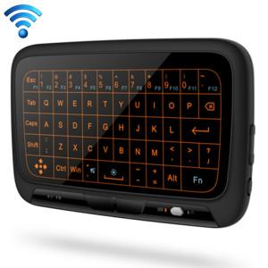 H18 + 2.4GHz mini clavier sans fil tactile complet avec rétro-éclairage réglable de 3 niveaux (noir) SH552196-20