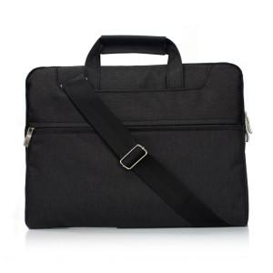 Portable Un sac à bandoulière portable Zipper épaule, pour 11,6 pouces et ci-dessous Macbook, Samsung, Lenovo, Sony, DELL Alienware, CHUWI, ASUS, HP (Noir) SP401B1488-20