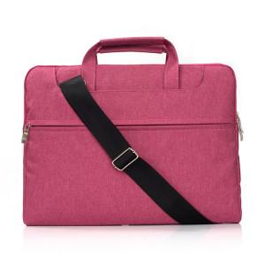 Portable Un sac à bandoulière portable Zipper épaule, pour 11,6 pouces et ci-dessous Macbook, Samsung, Lenovo, Sony, DELL Alienware, CHUWI, ASUS, HP (Magenta) SP401M1565-20
