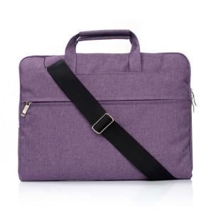 Portable Un sac à bandoulière portable Zipper épaule, pour 11,6 pouces et ci-dessous Macbook, Samsung, Lenovo, Sony, DELL Alienware, CHUWI, ASUS, HP (violet) SP401P1179-20