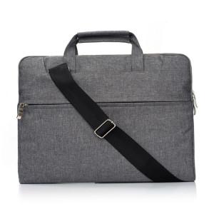 Portable Un sac à bandoulière portable Zipper épaule, pour 13,3 pouces et ci-dessous Macbook, Samsung, Lenovo, Sony, DELL Alienware, CHUWI, ASUS, HP (gris) SP503H573-20