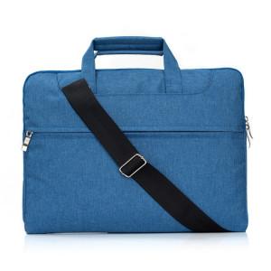 Portable Un sac à bandoulière portable à glissière à l'épaule, pour 15,4 pouces et ci-dessous Macbook, Samsung, Lenovo, Sony, Dell Alienware, CHUWI, ASUS, HP (Bleu) SP005L1467-20