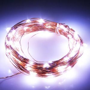 Lumières de décoration de chaîne de fil de cuivre de 5m 100 LED SMD 0603 / lumière de festival, CC 12V (lumière blanche) SL31WL756-20