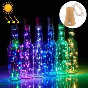 Lumière de ficelle de fil de cuivre solaire légère colorée par 1m, 10 LED SMD 0603 lumière décorative de fée de lampe avec bouchon de bouteille, DC 5V SH76CL490-20