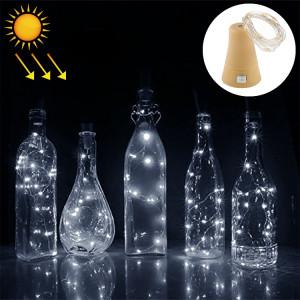 Lumière de fil solaire de fil de cuivre de lumière blanche de 1m, 10 LED Lumière décorative de lampe de fée de SMD 0603 avec le bouchon de bouteille, DC 5V SH76WL773-20