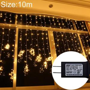 UL588 lumière de rideau LED étanche IP43, lumière décorative de fée de 300 LEDs avec joint d'extrémité et 8 fonctions de modèle, prise US (blanc chaud) SH51WW1600-20