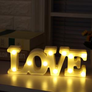 Creative LOVE forme lumière de décoration LED blanc chaud, 2 piles AA SH080W994-20