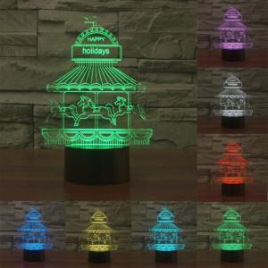 Parc d'attractions Style 7 Décoloration des couleurs Lampe stéréo visuelle créative Commande tactile 3D Commande LED Lumière Lampe de bureau Lampe de nuit SP28834-20