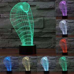Cobra Style 7 Décoloration des couleurs Lampe stéréo visuelle créative Commande tactile 3D Contrôle LED Light Lampe de bureau Night Light SC29233-20