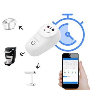 16A 2,4 GHz Alexa WiFi Contrôle Smart Timer Home Prise de courant avec Echo et Google Home, AC 100-240 V, UK Plug S1507C716-20