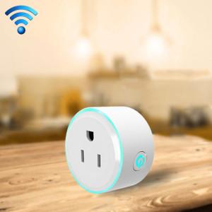 10A Forme ronde WiFi 2.4GHz Mini Plug APP Télécommande Timing Smart Socket Fonctionne avec Alexa et Google Accueil et lumière colorée, AC 100-240V, US Plug S135131627-20