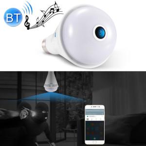 ESCAM QP137 2MP HD 1080P 360 degrés Bluetooth haut-parleur Bluetooth IP caméra, E27, WiFi, détection de mouvement, (blanc) SE104W1716-20
