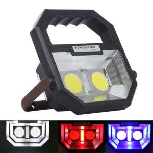 Blanc + rouge et bleu avertissement lumière COB LED tente de camping, multi-fonction extérieur lampe de poche d'urgence portable avec poignée et titulaire et port de sortie USB SH60581996-20