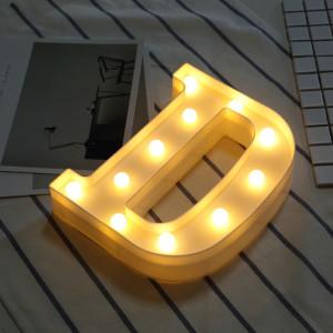 Lumière anglaise décorative de forme de lettre de l'alphabet D, lumière sèche chaude de vacances accrochante debout blanche de batterie sèche de LED SH216D1929-20