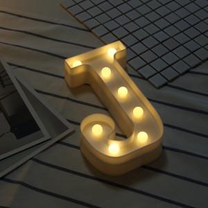 Lumière anglaise décorative de forme de lettre de l'alphabet J, batterie sèche sèche SH216J1930-20