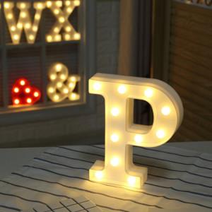 Lumière anglaise décorative de forme de P de lettre de l'alphabet, lumière sèche chaude de vacances de LED SH216P1431-20