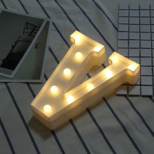 Lumière anglaise décorative de lettre de V de lettre de l'alphabet, lumière sèche chaude de vacances de LED SH216V1767-20