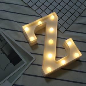 Lumière anglaise décorative de lettre de Z de lettre de l'alphabet, lumière sèche chaude de vacances de LED SH216Z1622-20