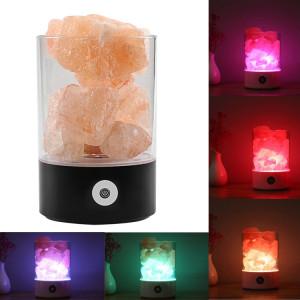 Sunshine M2 créative HIMALAYA Cristal Lampe de sel, USB Charge Table Rock Table de travail de lumière de nuit avec base (noir) SH804B1691-20