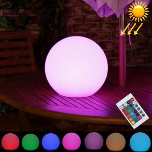 LEH-42321 30cm boule ronde lampe solaire d'énergie, jardin flottant changeant la lumière colorée de LED avec 0.8W panneau solaire monocristallin de silicium (blanc) SH711W1328-20