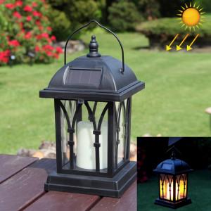 LEH-55142 Lampe solaire de pelouse de puissance solaire, lumière de jardin de bougie avec 0.2W panneau solaire amorphe de silicium (noir) SH713B1847-20
