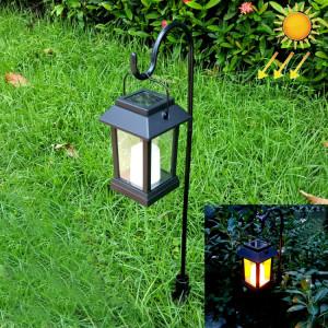 LEH-55143G Solar Power LED Lampe de pelouse, lumière de jardin de bougie avec le poteau et 0.2W panneau solaire amorphe de silicium (noir) SH715B139-20