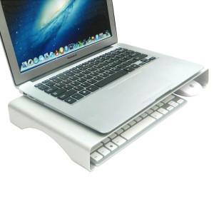 Support de support de hauteur de bureau en alliage d'aluminium universel pour ordinateur portable, petite taille: 40x21x5cm (argent) SH021S615-20