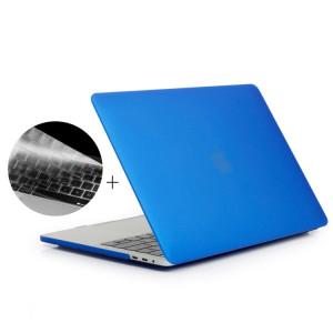 ENKAY Hat-Prince 2 en 1 Coque de protection en plastique dur givré + Version Europe Ultra-mince TPU Protecteur de clavier pour 2016 MacBook Pro 13,3 pouces avec barre tactile (A1706) (Bleu foncé) SE601D1902-20