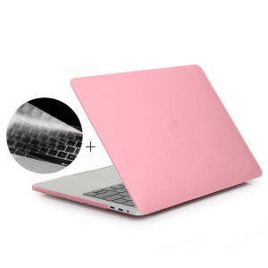 ENKAY Hat-Prince 2 en 1 coque de protection en plastique dur givré + Europe Version Ultra-mince TPU couvercle de protection pour clavier en 2016 MacBook Pro 13,3 pouces avec barre tactile (A1706) (Rose) SE601F1590-20