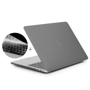 ENKAY Hat-Prince 2 en 1 Coque de protection en plastique dur givré + Version Europe Ultra-mince TPU Protecteur de clavier pour 2016 MacBook Pro 13,3 pouces avec barre tactile (A1706) (Gris) SE601H396-20