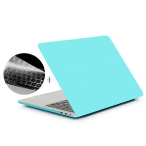 ENKAY Hat-Prince 2 en 1 Coque de protection en plastique dur givré + Europe Version Ultra-mince TPU Protecteur de clavier pour 2016 MacBook Pro 13,3 pouces avec barre tactile (A1706) (Bleu) SE601L29-20