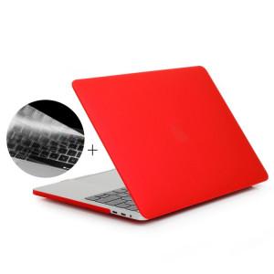 ENKAY Hat-Prince 2 en 1 Coque de protection en plastique dur givré + Europe Version Ultra-mince TPU Protecteur de clavier pour 2016 MacBook Pro 13,3 pouces avec barre tactile (A1706) (Rouge) SE601R1857-20