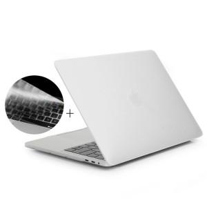 ENKAY Hat-Prince 2 en 1 Coque de protection en plastique dur givré + Europe Version Ultra-mince TPU Couverture de clavier protecteur pour 2016 MacBook Pro 13,3 pouces avec barre tactile (A1706) (Blanc) SE601W883-20
