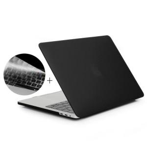 ENKAY Hat-Prince 2 en 1 Coque de protection en plastique dur givré + Version Europe Ultra-mince TPU Protecteur de clavier pour 2016 MacBook Pro 15,4 pouces avec barre tactile (A1707) (Noir) SE603B919-20